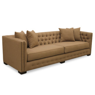 Venetian Linen Tufted Sofa