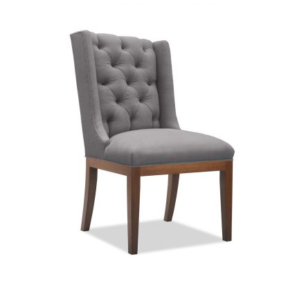 Nadina Tufted Linen with Nails Dining Chair