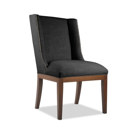 Nadina Linen Dining Chair with Nail Heads