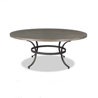 Idaho Wrought Iron Round Dining Table