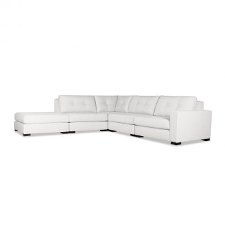 Tribeca Buttoned Modular Right Arm L-Shape Left Ottoman Sectional