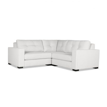 Tribeca Buttoned Modular Right and Left Arms L-Shape Mini Sectional