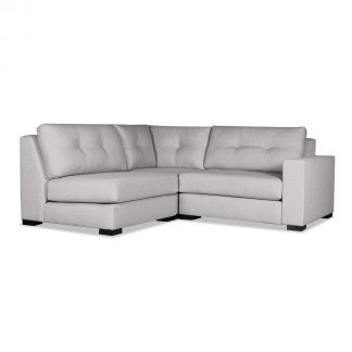 Tribeca Buttoned Modular Right Arm L-Shape Mini Sectional