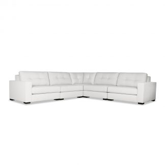 Tribeca Buttoned Modular Right and Left Arms L-Shape Standard Sectional