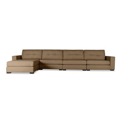 Tribeca Buttoned Modular Left Chaise Sectional