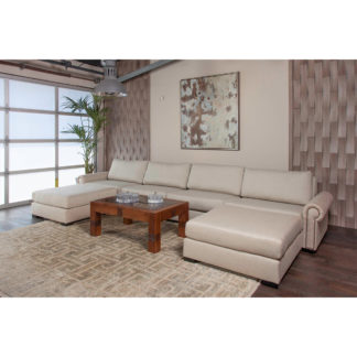 Lucile Modular U-Shape Double Chase Sectional