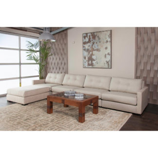 Wilton Buttoned Modular Left L-Shape Sectional